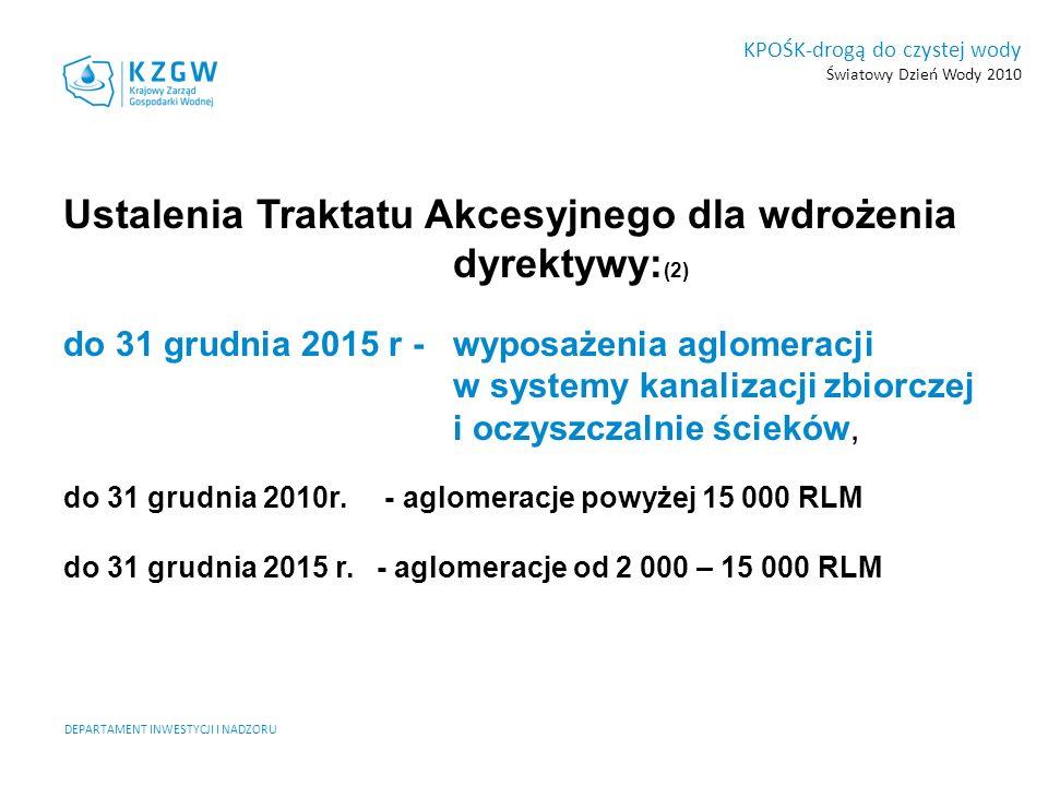 Ustalenia Traktatu Akcesyjnego dla wdrożenia dyrektywy:(2)