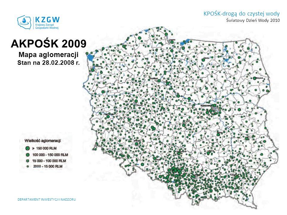 AKPOŚK 2009 Mapa aglomeracji