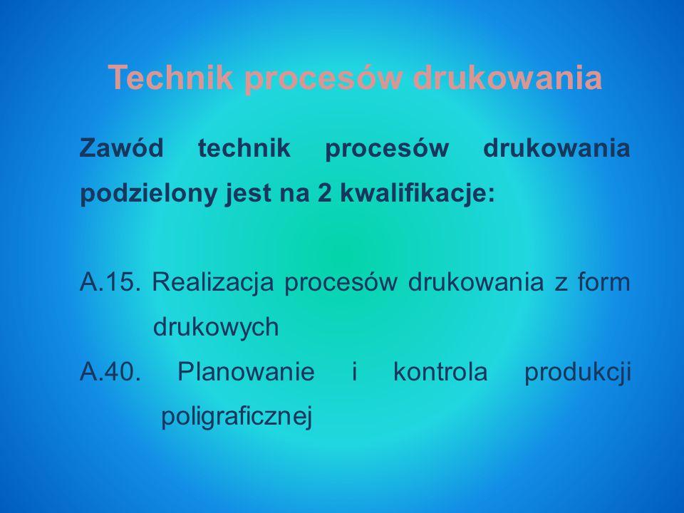 Technik procesów drukowania