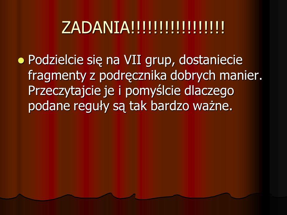 ZADANIA!!!!!!!!!!!!!!!!!