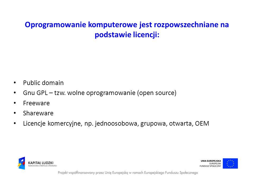 Oprogramowanie komputerowe jest rozpowszechniane na podstawie licencji: