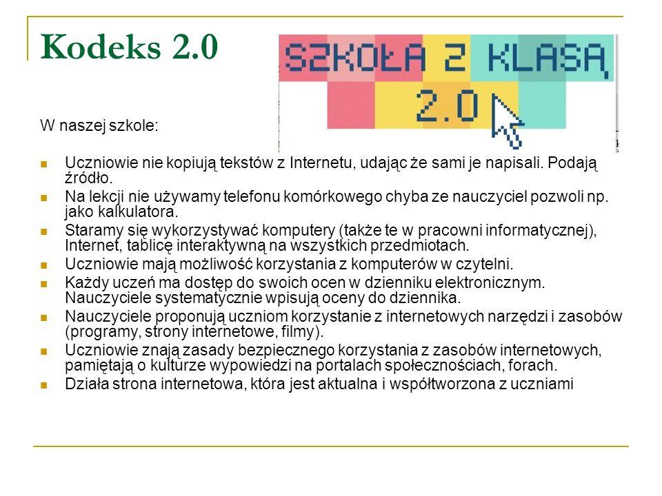 Kodeks 2.0 W naszej szkole: