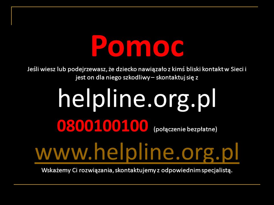 Pomoc helpline.org.pl www.helpline.org.pl