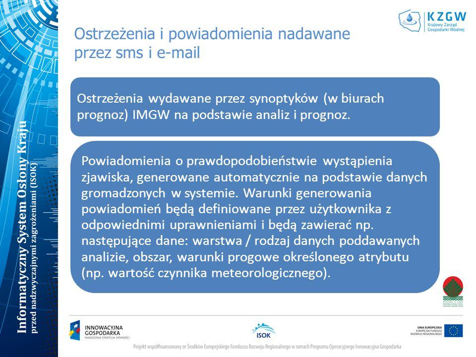 Ostrzeżenia i powiadomienia nadawane przez sms i e-mail