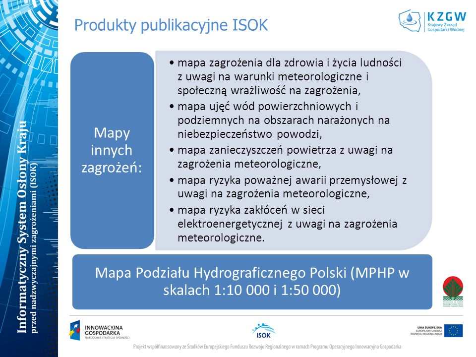 Produkty publikacyjne ISOK