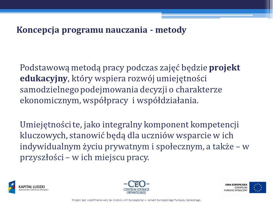 Koncepcja programu nauczania - metody