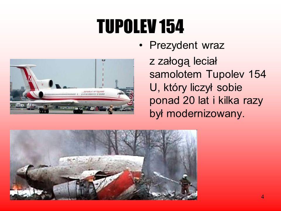 TUPOLEV 154 Prezydent wraz