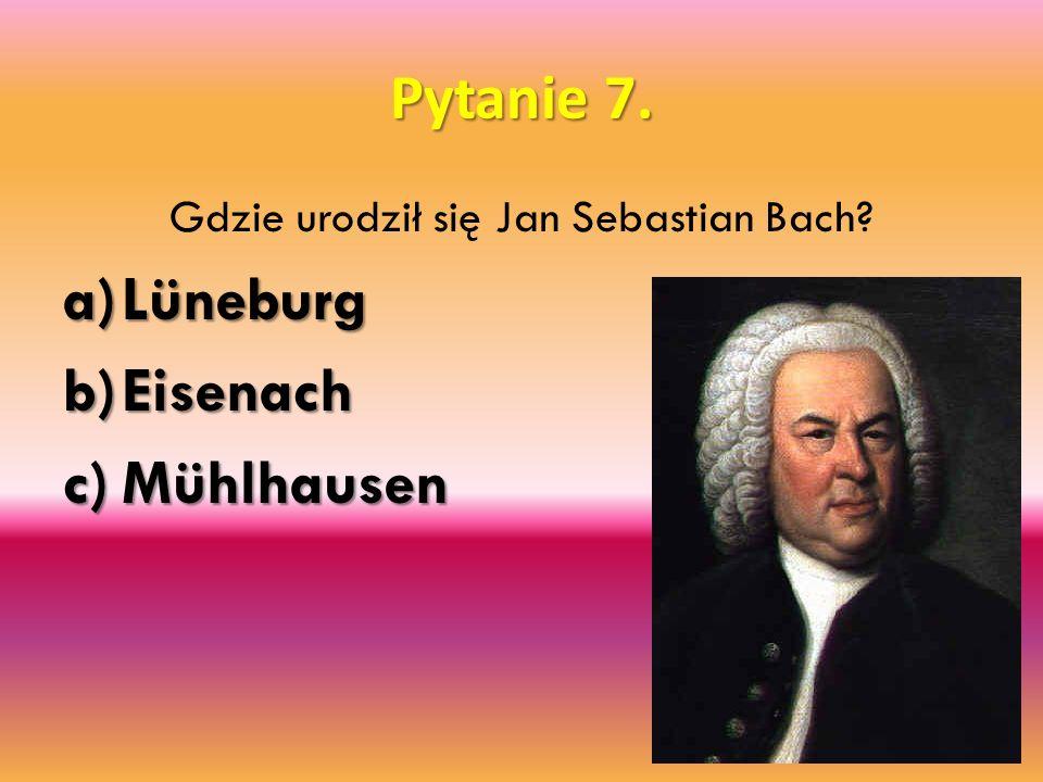 Gdzie urodził się Jan Sebastian Bach