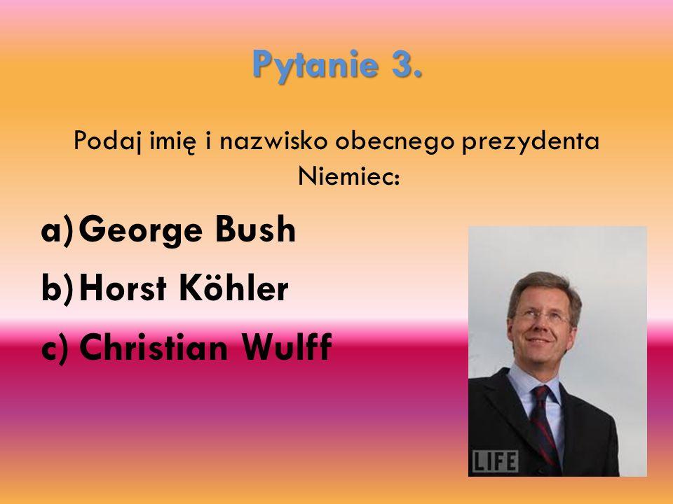 Podaj imię i nazwisko obecnego prezydenta Niemiec: