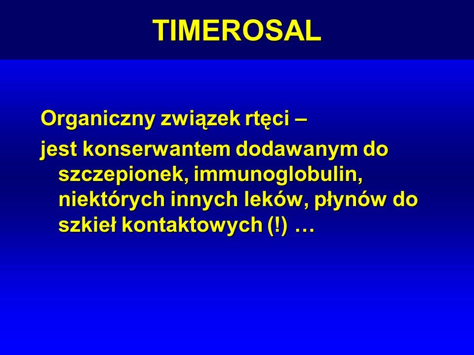 TIMEROSAL Organiczny związek rtęci –