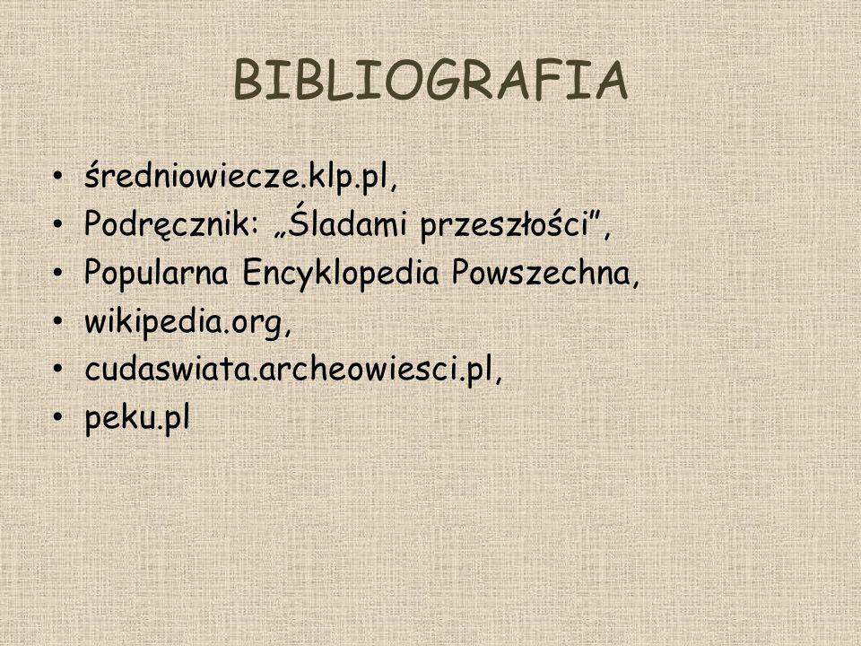 """BIBLIOGRAFIA średniowiecze.klp.pl, Podręcznik: """"Śladami przeszłości ,"""