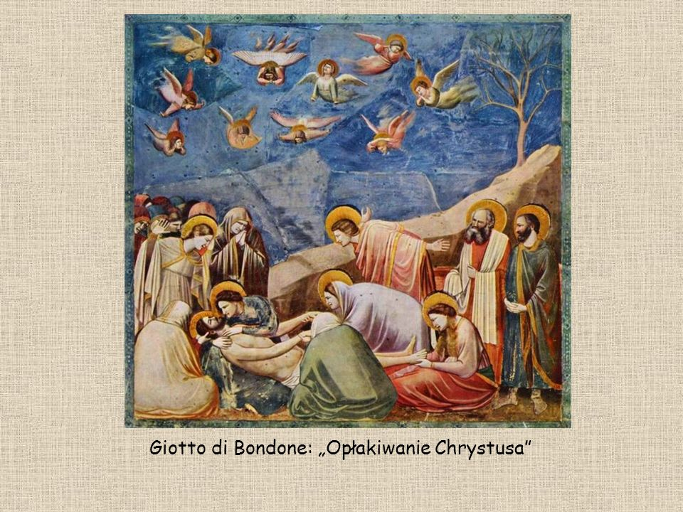 "Giotto di Bondone: ""Opłakiwanie Chrystusa"