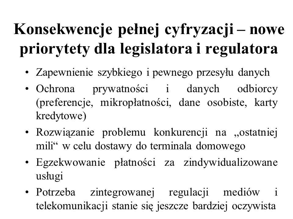 Konsekwencje pełnej cyfryzacji – nowe priorytety dla legislatora i regulatora