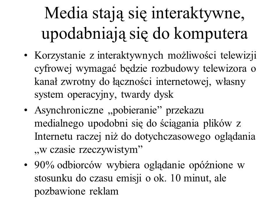 Media stają się interaktywne, upodabniają się do komputera