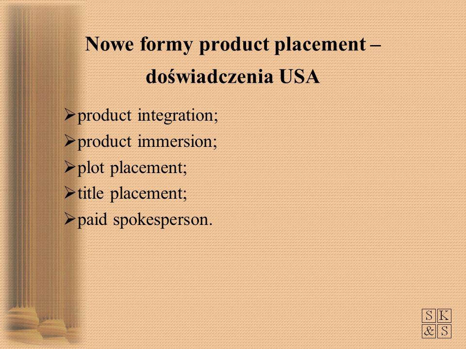 Nowe formy product placement – doświadczenia USA