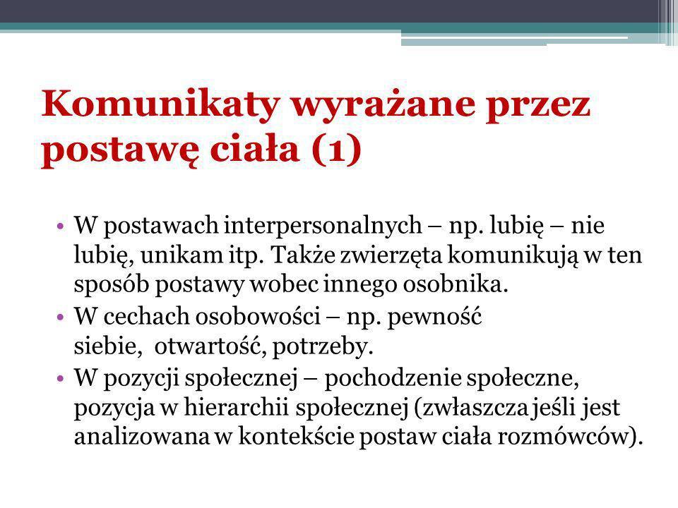 Komunikaty wyrażane przez postawę ciała (1)