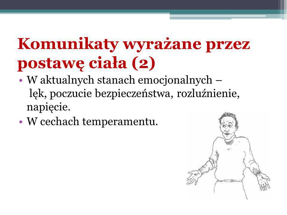 Komunikaty wyrażane przez postawę ciała (2)