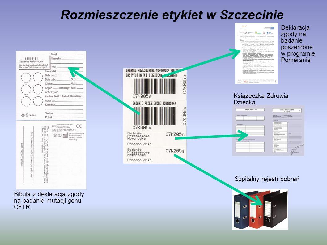 Rozmieszczenie etykiet w Szczecinie