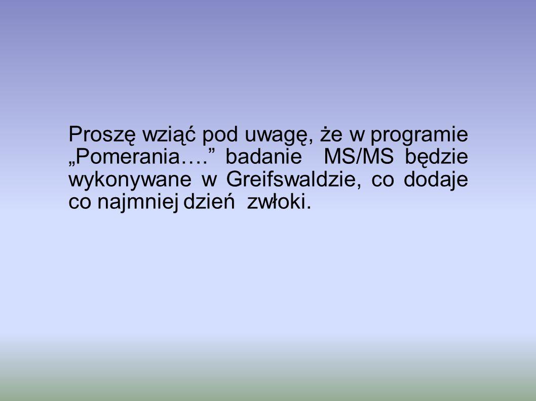 """Proszę wziąć pod uwagę, że w programie """"Pomerania…"""