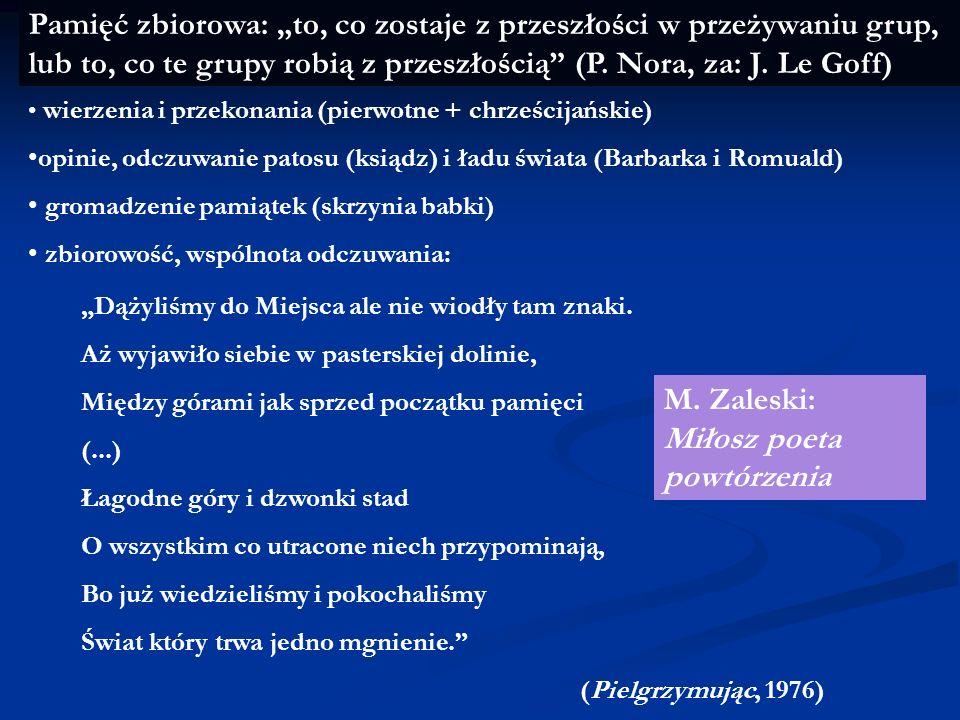 M. Zaleski: Miłosz poeta powtórzenia