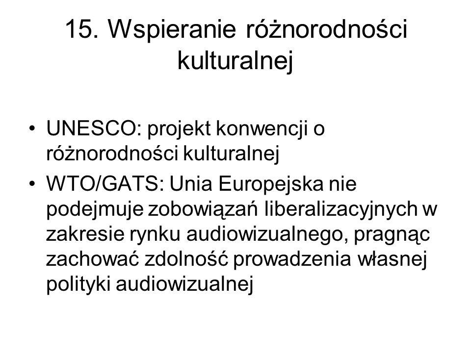 15. Wspieranie różnorodności kulturalnej