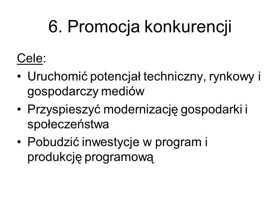 6. Promocja konkurencji Cele: