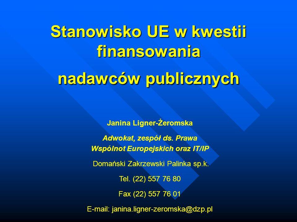 Stanowisko UE w kwestii finansowania nadawców publicznych