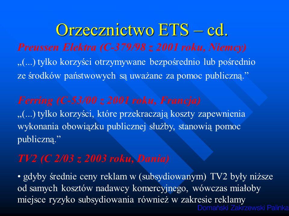 Orzecznictwo ETS – cd. Preussen Elektra (C-379/98 z 2001 roku, Niemcy)