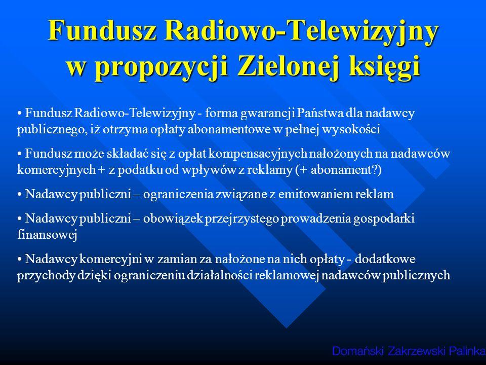 Fundusz Radiowo-Telewizyjny w propozycji Zielonej księgi