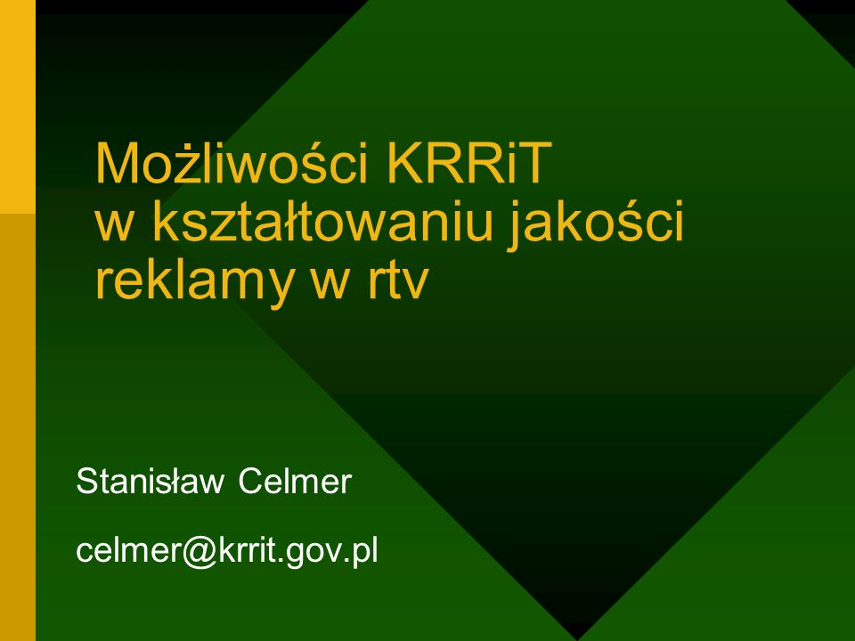 Możliwości KRRiT w kształtowaniu jakości reklamy w rtv