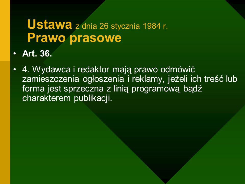 Ustawa z dnia 26 stycznia 1984 r. Prawo prasowe