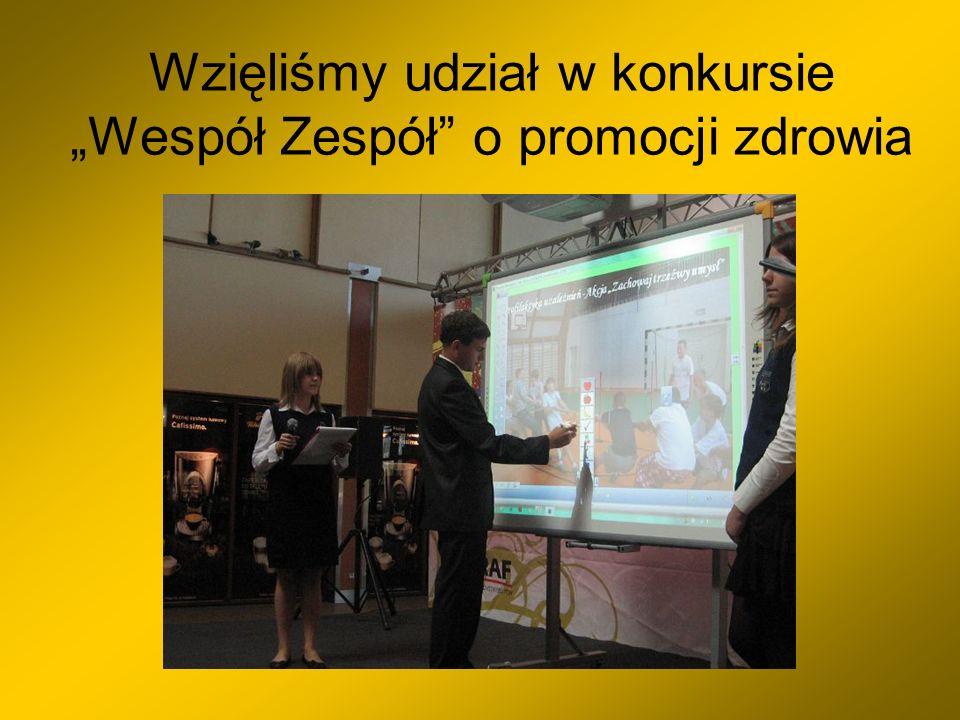 """Wzięliśmy udział w konkursie """"Wespół Zespół o promocji zdrowia"""