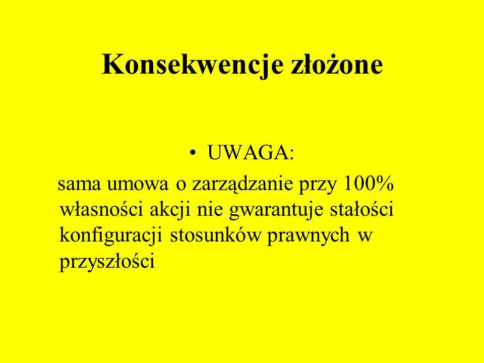 Konsekwencje złożone UWAGA:
