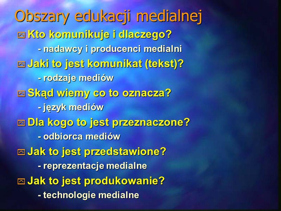Obszary edukacji medialnej