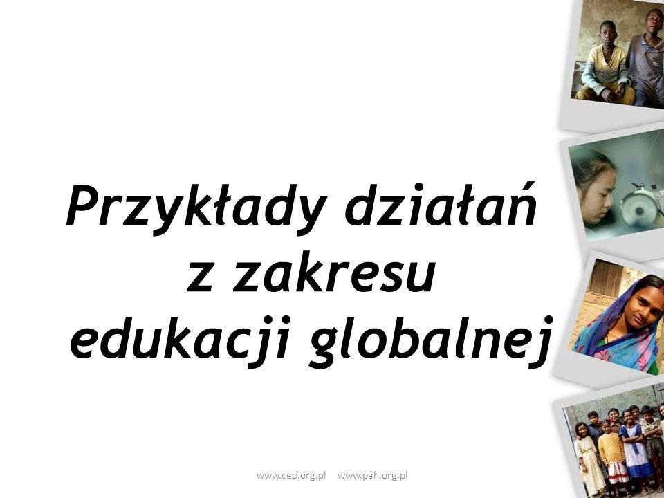 Przykłady działań z zakresu edukacji globalnej