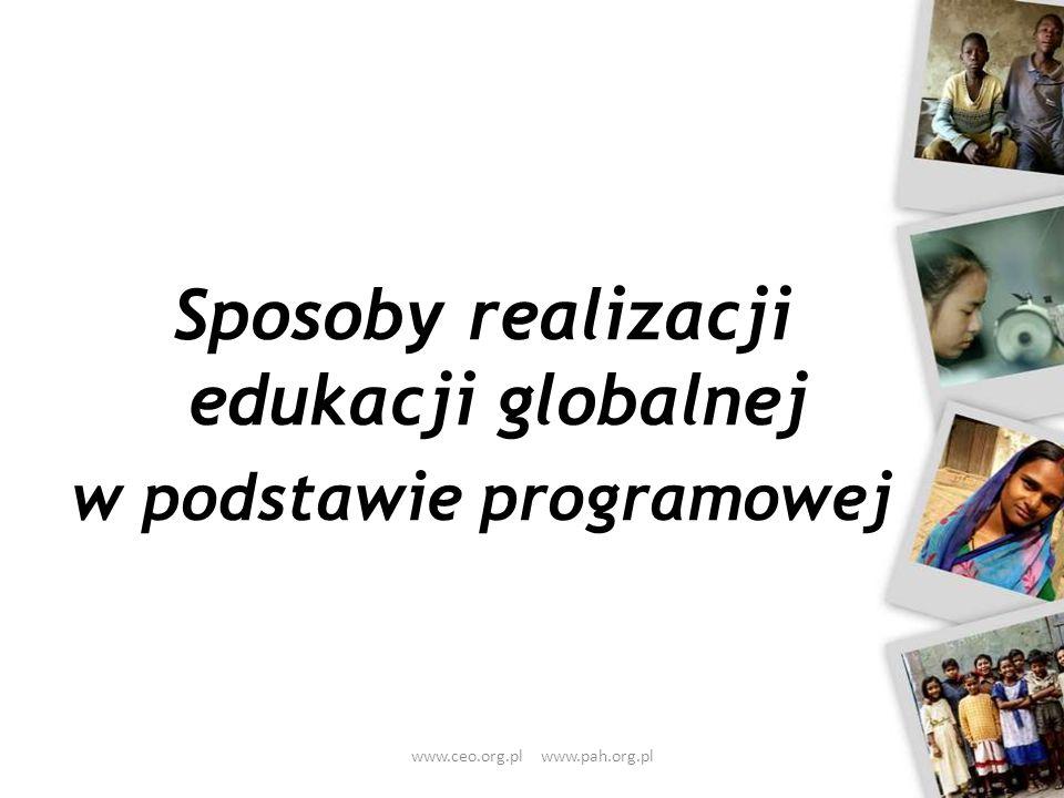 Sposoby realizacji edukacji globalnej w podstawie programowej