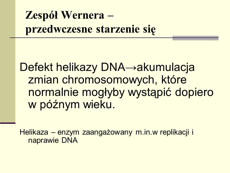 Zespół Wernera – przedwczesne starzenie się
