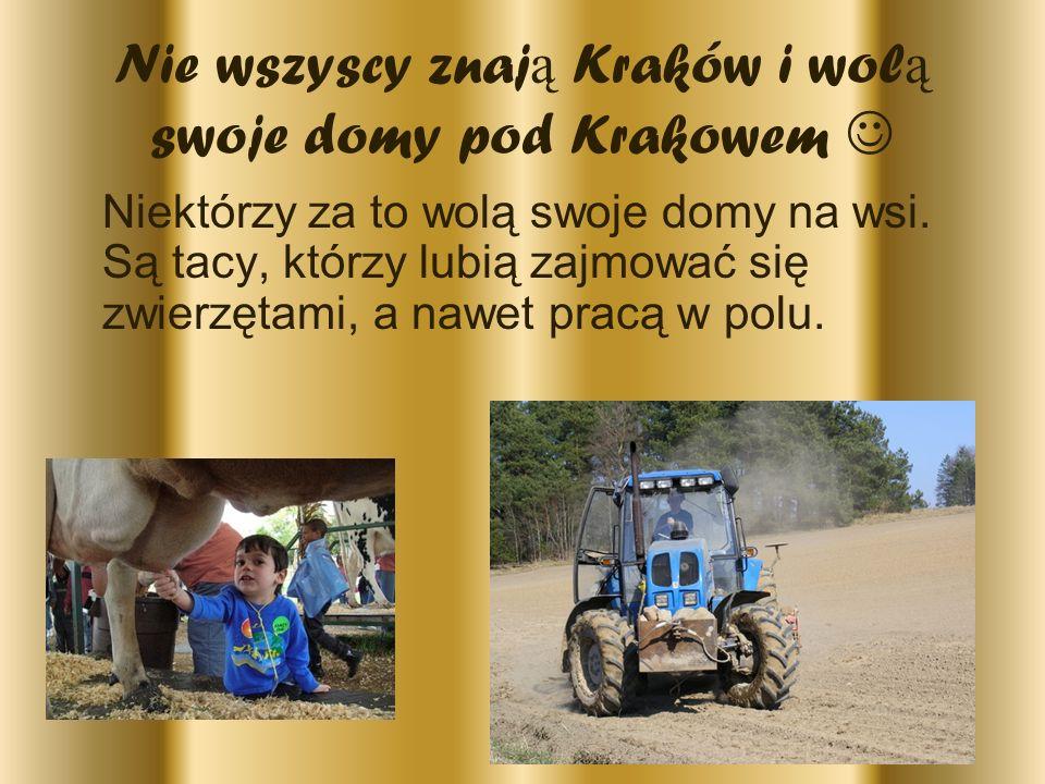 Nie wszyscy znają Kraków i wolą swoje domy pod Krakowem 