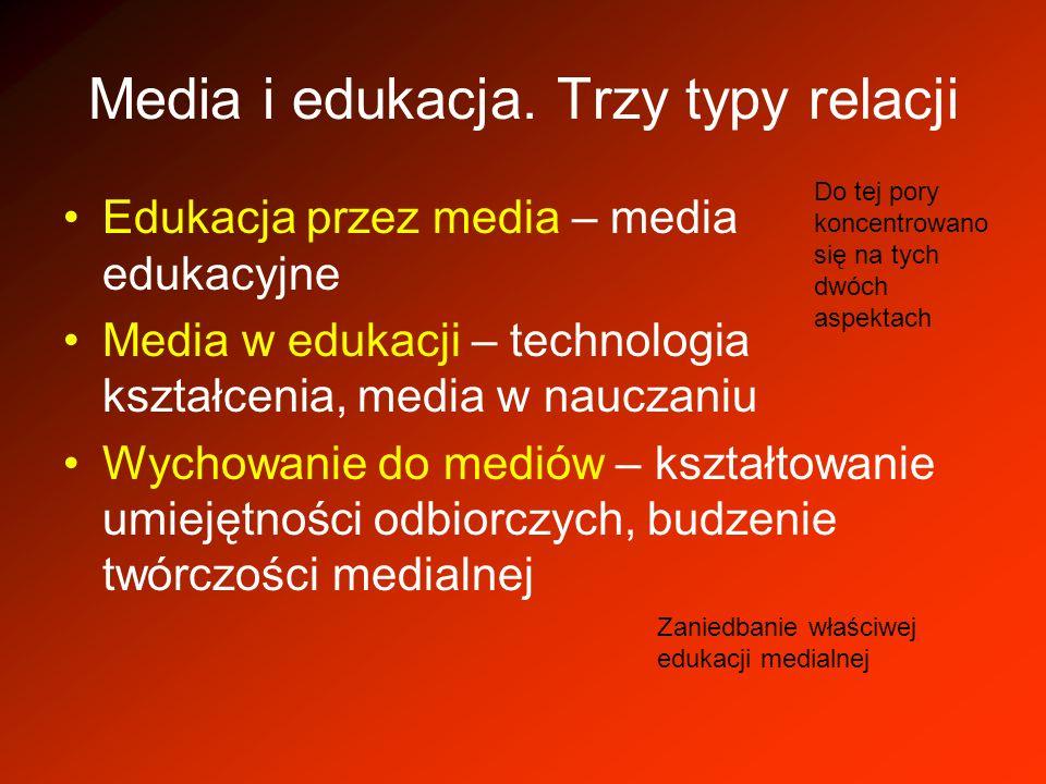 Media i edukacja. Trzy typy relacji