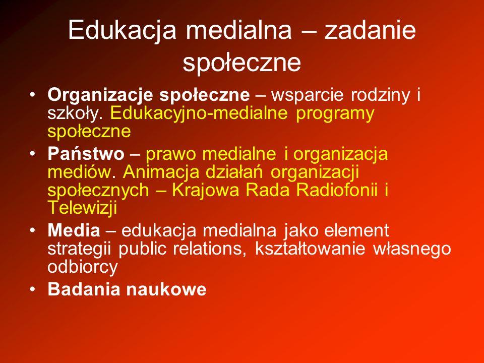 Edukacja medialna – zadanie społeczne