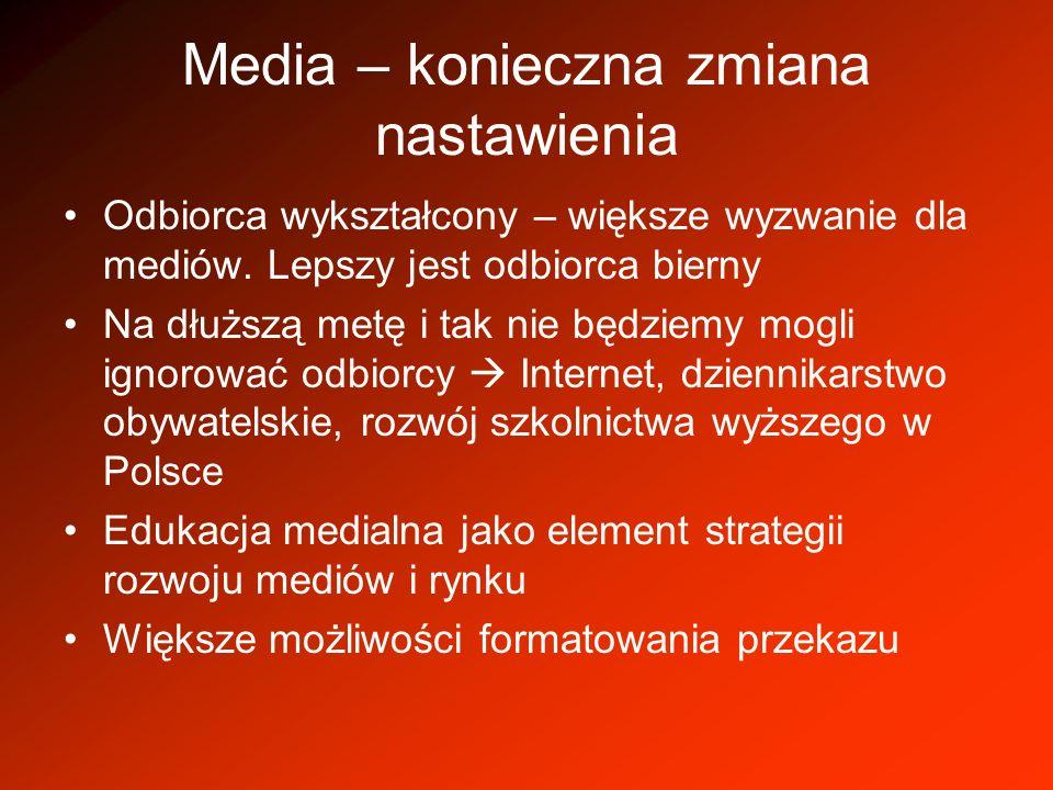 Media – konieczna zmiana nastawienia
