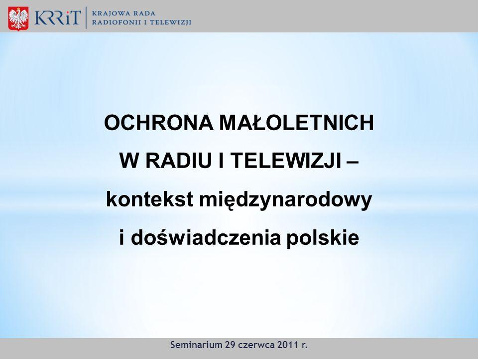 W RADIU I TELEWIZJI – kontekst międzynarodowy i doświadczenia polskie