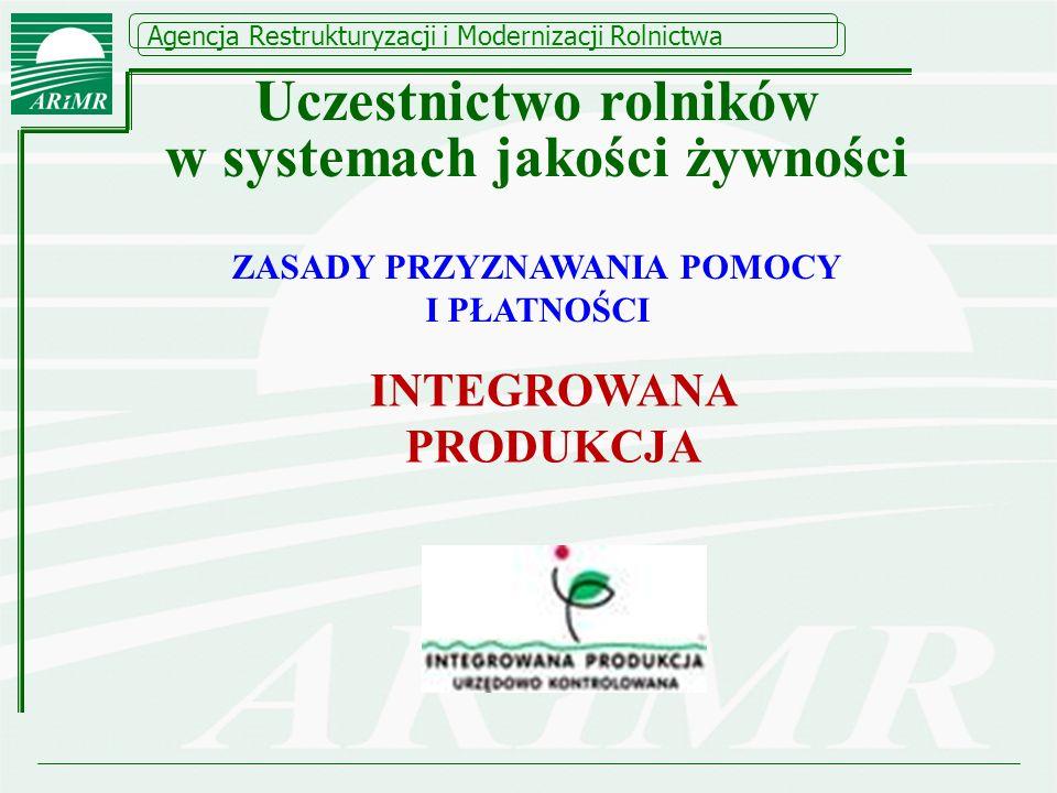 Uczestnictwo rolników w systemach jakości żywności