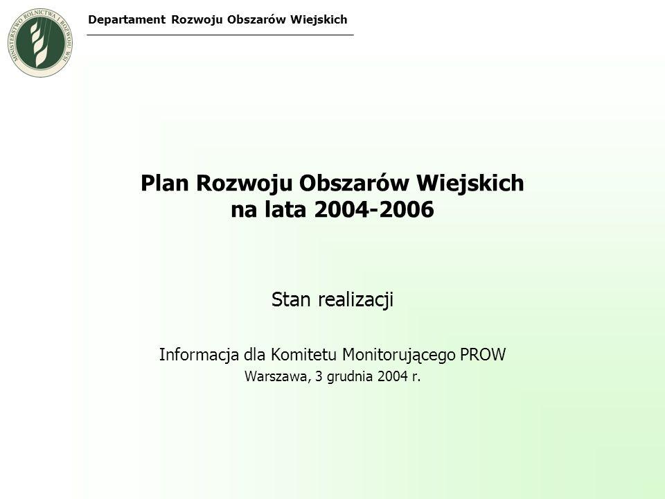 Plan Rozwoju Obszarów Wiejskich na lata 2004-2006