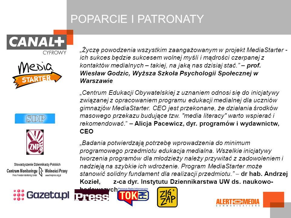 POPARCIE I PATRONATY