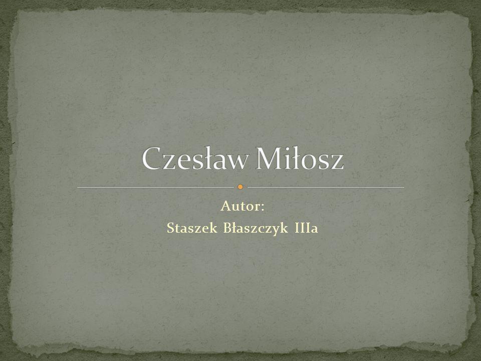 Autor: Staszek Błaszczyk IIIa