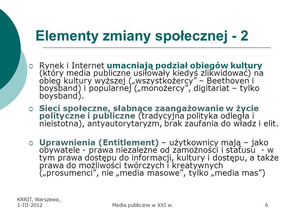 Elementy zmiany społecznej - 2