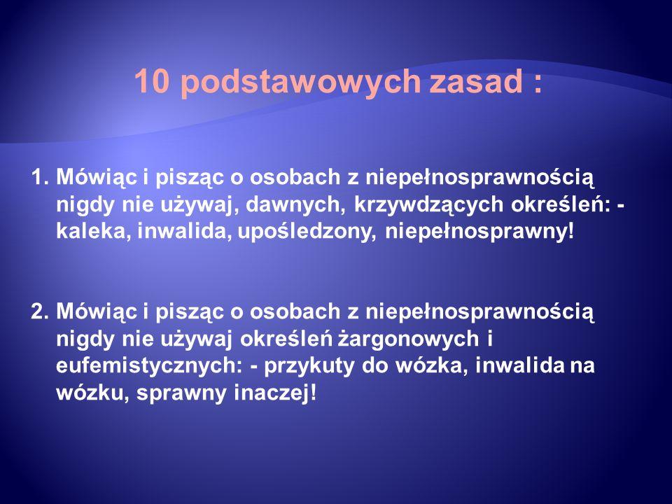 10 podstawowych zasad :