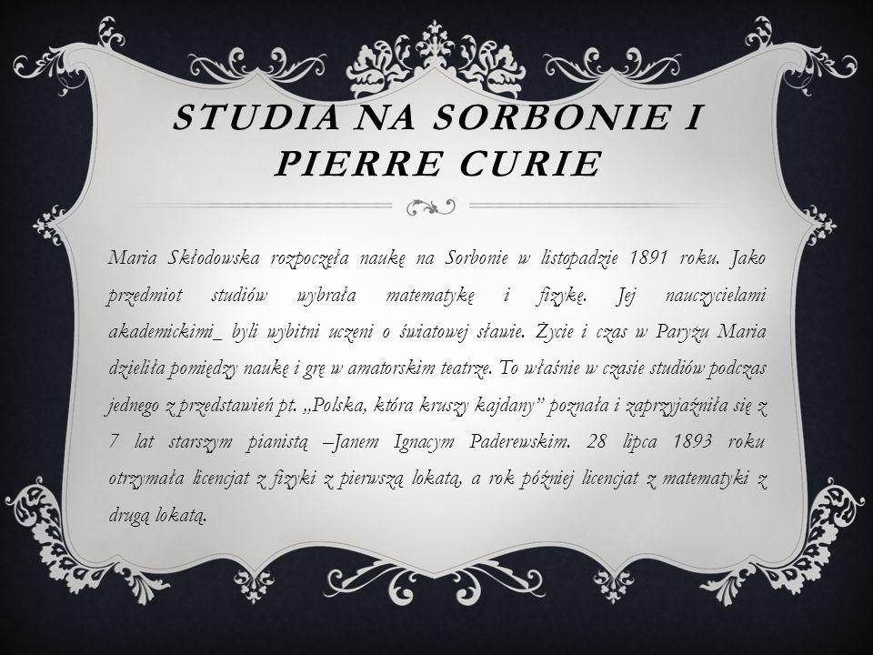 Studia na Sorbonie i Pierre Curie