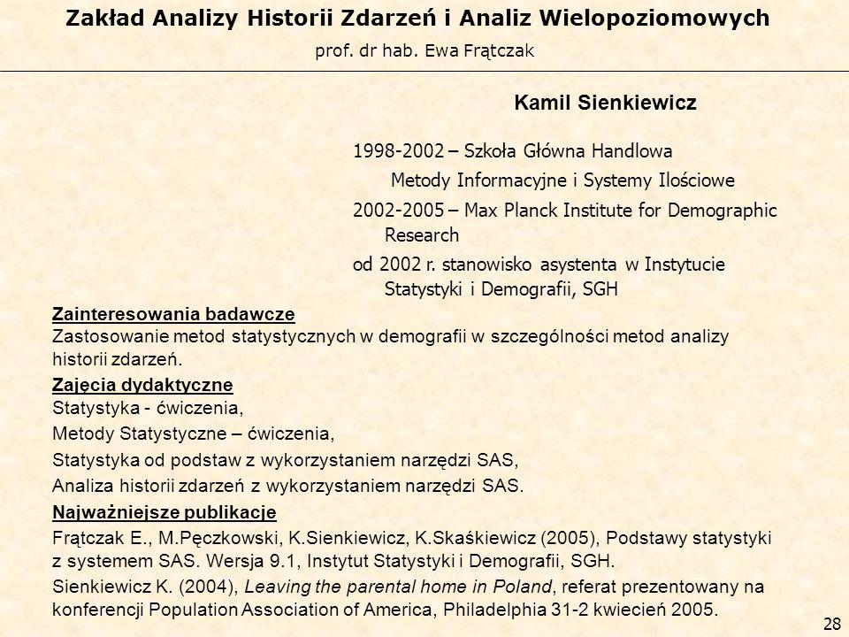 Kamil Sienkiewicz 1998-2002 – Szkoła Główna Handlowa